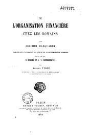 De l'organisation financière chez les Romains