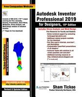 Autodesk Inventor Professional 2019 for Designers  19th Edition PDF