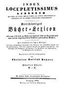 B  cher Lexikon  1750 1910  Sachregister A Z  1750 1832 PDF