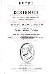 Animadversiones in decimum librum Diogenis Laertii, qui est de vita, moribus, placitisque Epicuri: Placita autem, quas ille treis statuit Philosophiae parteis, Continent I. Canonicam ... II. Physicam, ... III. Ethicam .... 1