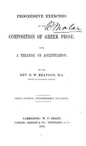 Progressive exercises on the composition of Greek prose