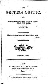 The British Critic: Volume 31