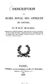 Description du Musée Royal Des Antiques du Louvre