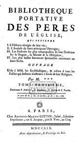 Bibliothèque portative des Pères de l'Eglise: Volume3