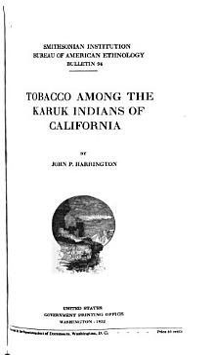 Tobacco Among the Karuk Indians of California PDF