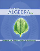 Beginning Algebra  A Guided Approach PDF