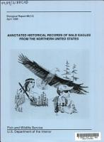 Annotated Historical Records of Bald Eagles from the Northern United States PDF