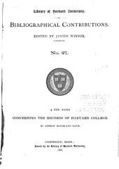 Bibliographical Contributions: Issues 27-34