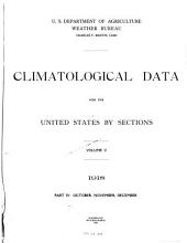 Climatological Data for the United States by Sections: Volume 5, Part 4