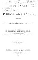Dictionary of Phrase and Fable PDF