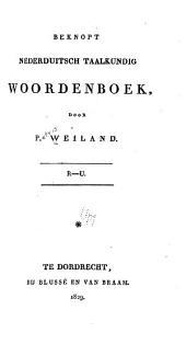 Beknopt Nederduitsch taalkundig woordenboek