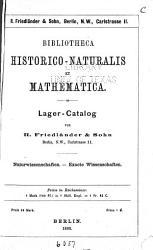 Bibliotheca historiconaturalis et mathematica PDF