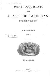 Joint Documents of the State of Michigan: Volume 5