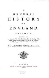 A General History of England: Volume 4