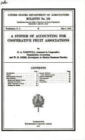 A system of accounting for cooperative fruit associations