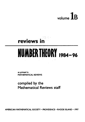 Reviews in Number Theory  1984 96 PDF