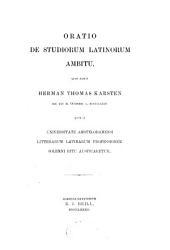 Oratio de studiorum Latinorum ambitu