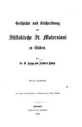 Geschichte und Beschreibung der Stiftskirche St. Materniani zu Bücken, etc