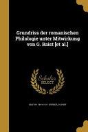 GER GRUNDRISS DER ROMANISCHEN PDF