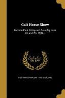 GALT HORSE SHOW