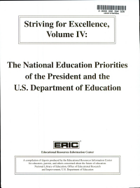 Striving for Excellence  The national education priorities of the president and the U S  Department of Education PDF