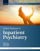 Oxford Textbook of Inpatient Psychiatry PDF