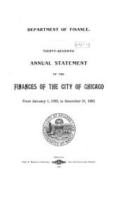 Annual Report of the Comptroller of the City of Chicago