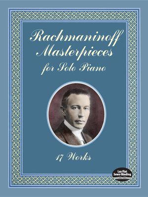 Rachmaninoff masterpieces for solo piano PDF