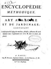 Encyclopédie méthodique: Art aratoire et du jardinage ...