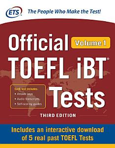 Official TOEFL iBT Tests Volume 1  Second Edition PDF