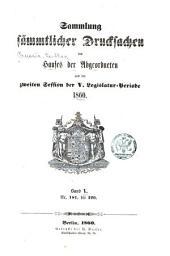 Sammlung der drucksachen ...: Band 5