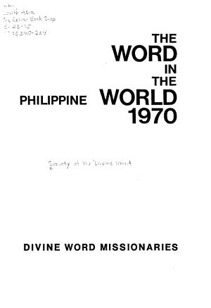 The Word in the World  1970  Philippine PDF