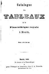 Catalogue des tableaux de la Pinacothèque royale à Munich