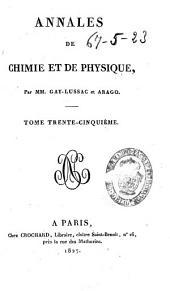 Annales de chimie et de physique: Volume35