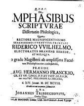 De emphasibus Scripturae diss. philol