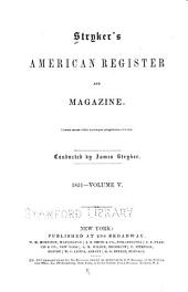 Stryker's American Register and Magazine: Volume 5
