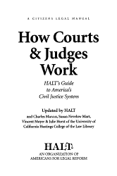 How Courts Judges Work Book PDF