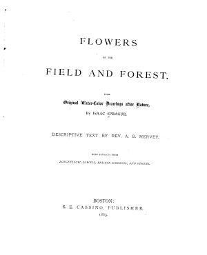 Flowers of the Field and Forest PDF