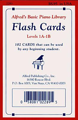 Alfred s Basic Piano Library Flash Cards Levels 1A 1B