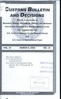 Customs Bulletin and Decisions PDF