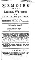 Memoirs of the Life and Writings of Mr  William Whiston  Containing Memoirs of Several of His Friends Also PDF