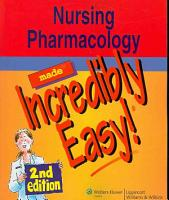 Nursing Pharmacology Made Incredibly Easy  PDF