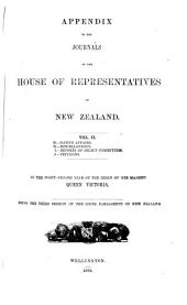 Appendix to the Journals of the House of Representatives of New Zealand: Volume 2