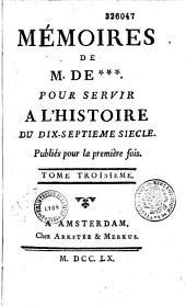 Mémoires de M. de Meusnier de Querlon pour servir à l'histoire du XVIIe siècle