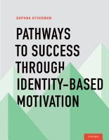 Pathways To Success Through Identity based Motivation PDF