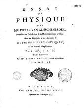 Essai de physique, par Mr. Pierre Van Musschenbroek