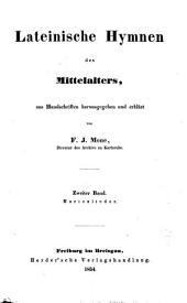 Lateinische Hymnen des Mittelalters: Band 2