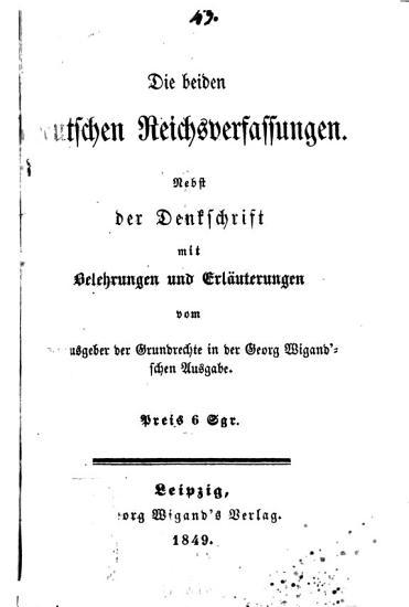 Die beiden deutschen reichsverfassungen PDF