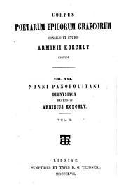 Nonni Panopolitani Dionysiacorum libri XLVIII.