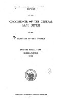 Annual Report of the Commissioner of the General Land Office to the Secretary of the Interior PDF
